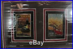 Disney WDI Cars Land Attraction Posters 3 Pin AP Frame Mater Lightning McQueen