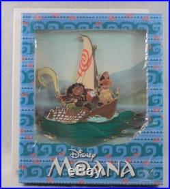 Disney WDI Destination D Imagineering LE 150 Pin Moana Jumbo Maui Pua Maui Boat