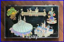 Disney WDI HKDL Cast Exclusive Park Map Icon Castle Space Mountain Jumbo Pin Set