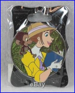 Disney WDI Imagineering LE 250 Pin Heroines Profile Tarzan Jane Porter Monkey