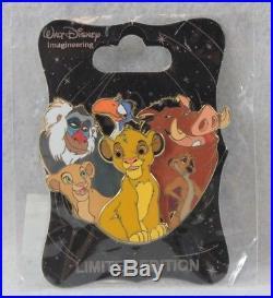 Disney WDI LE 250 Pin Character Cluster Lion King Simba Nala Timon Pumbaa Zazu