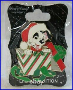 Disney WDI LE 250 Pin Christmas Present Gift 101 DALMATIANS PATCH
