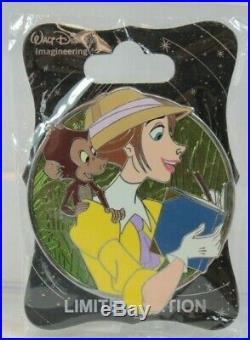 Disney WDI LE 250 Pin Heroines Profile Jane Porter Tarzan Monkey