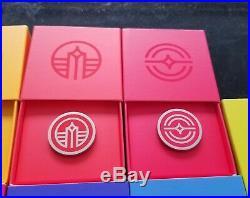Disney WDI MOG D23 Expo 2019 Epcot Pavillion Rainbow Logo Boxed 14 Pin Set LE200