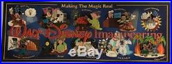 Disney WDI Making The Magic Real Map Series 10 Pin Set with Display Card LE 500