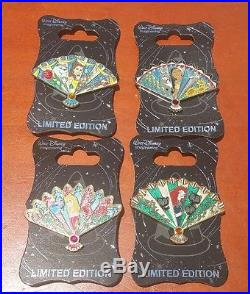 Disney WDI Princess Fan LE 300 12 Pin Complete Set from D23 Amazing Adventures