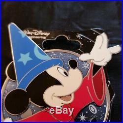 Disney WDI Profile Mickey Mouse Through the Years Sorcerer Pin Fantasia LE 300