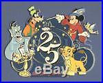 Disney WDW 25th Anniversary Framed 8 Pin Set