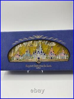 Disney WDW Happiest Celebration on Earth Theme Park Castles LE 1500 Jumbo Pin
