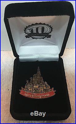 Disney WDW Marcasite Castle Boxed Pin LE 50 RARE