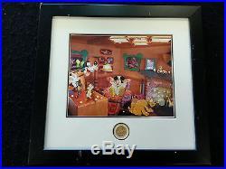 Disney WDW Mickey's Toontown Boys Night At Mickey's Framed pin Set LE75