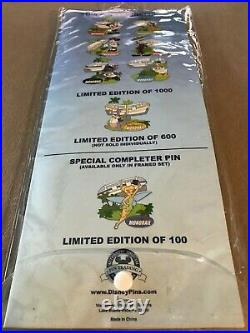 Disney WDW Monorail LIMITED EDITION PIN SET 7 Stitch Figment Goofy LE 1000 & 600