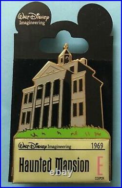 Disney Wdi Imagineering Cast Haunted Mansion Dlr 1969 E Ticket Le 300 Pin New