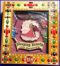 Disney Wdi Jumbo Sleeping Beauty 60th Anniversary Aurora Le 200 Spinner Pin
