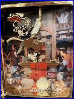 Disney Wdw Storybook Le Jumbo Pin Pirates Of The Caribbean Stained Glass Mickey