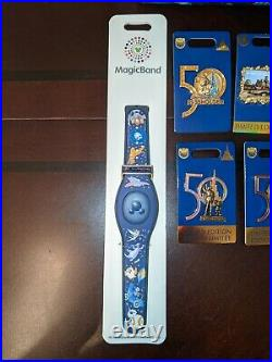Disney World 50th Anniversary Magicband EX Loungefly Backpack Passholder Pins LE