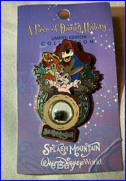 Disney World BANNED Splash Mountain Piece of History Brer Rabbit Fox Bear Pin