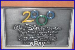 Disney World Epcot 2000 Framed Photomosaic Pin Set United Kingdom 101 Dalmations