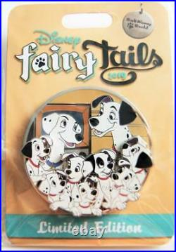 Disney World Fairy Tails 101 Dalmatians Pongo Perdita Mini Jumbo Pin Le 500