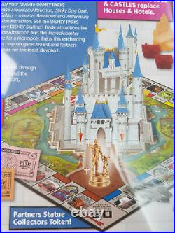 Disney World Parks Theme Park Edition Monopoly Pop Up Castle Board Game Mickey