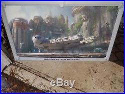 Disney World Star Wars Theme Park Metal Concept Art Placard Sign 48 x 28