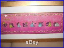Disney large framed Princess pin set