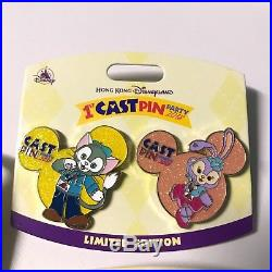 Disney pin Hong Kong Disneyland HKDL Cookie duffy gelatoni StellaLou Cast member