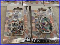 Disney pins Disneyland 60th Anniversary Decades complete 8 pin set LE 3000