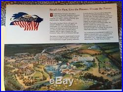 Disney's America Theme Park Press Fold Out The park they didn't build VERY RARE