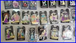 Disney winnie the pooh alice star wars stitch princesses LE 3D 34PCS pins lot