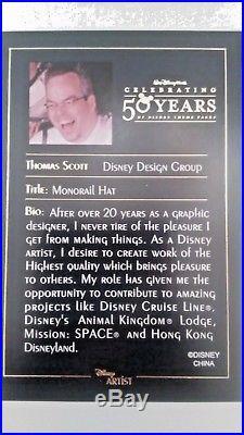 Disney world Celebrating Fifty Years Monorail Ear Hat Jumbo Pin LE 750