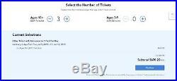 Disney world tickets, 3 X 2-Day Single Theme Park Tickets