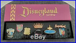 Disneyland 50th Fantasyland Exclusive Box Pin Collection Disney Catalog Set New