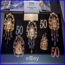 Disneyland 50th RARE Cast Member Castle Fantasy Pin Brooch Costume