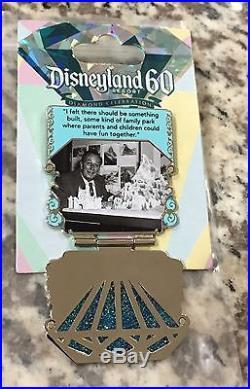 Disneyland 60th Anniversary Blue Diamond Pin #1 of 7