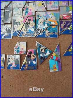Disneyland 60th Anniversary Puzzle Pin set 1, 2, 3 and 4 with Chasers Complete