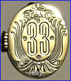 Disneyland Club 33 Walt Disney Hinged Locket Pin