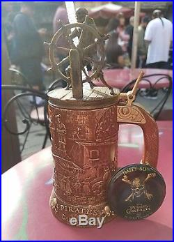 Disneyland DISNEY Pirates Of The Caribbean 50TH Anniversary MUG STEIN + BUTTON