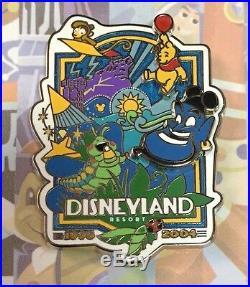 Disneyland Decades Pin Complete Set 60th Diamond Celebration 1955-2015 (8) Pins