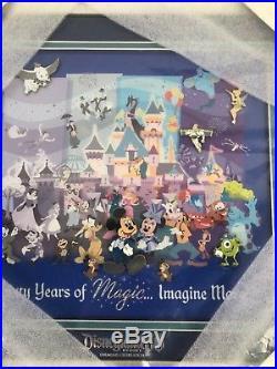 Disneyland Diamond Celebration Event 60th Sixty Years of Magic Framed Pin Set