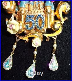 Disneyland Disney 50th very Rare Cast Character Castle Large Pin Belle