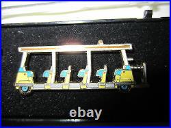 Disneyland Disney Cast Member Exclusive Retired Tram Pin Set RARE LE 3000