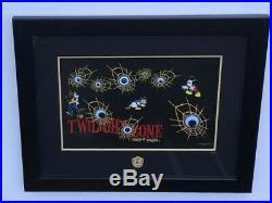 Disneyland Disney Park Twilight Zone Tower of Terror Framed 4 Pin Set LE 100