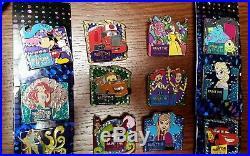 Disneyland Dlr 60th Diamond Paint The Night Parade Mystery Pin Full Set Disney