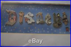 Disneyland Gothic Icons Framed Pin Set 16 pin set