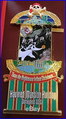 Disneyland Haunted Mansion Holiday Stretching Portraits 4-Pin Boxed Set