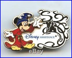 Disneyland Paris Cast Member Sorcerer Mickey Disney Assistance Pin (LE 10)