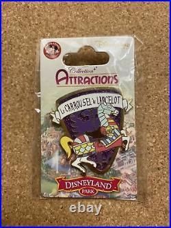 Disneyland Paris DLP Carrousel De Lancelot Pin 2013 Rare Attractions Series Htf