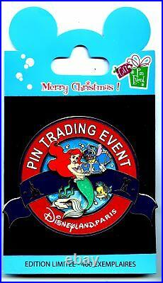 Disneyland Paris Event Gift Pin Jumbo Ariel, Stitch & Flounder Pin