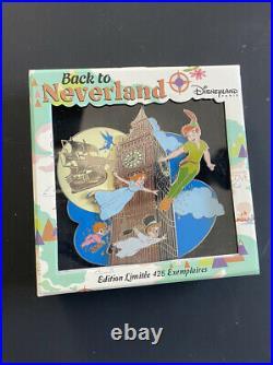 Disneyland Paris PTE LE425 Back to Neverland Pin Jumbo Big Ben (Peter Pan)